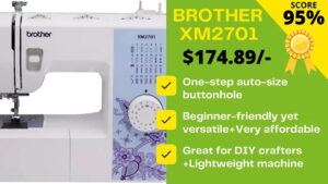 Read more about the article Brother XM2701 Sewing Machine Review: Can't believe this negative!