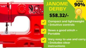 Read more about the article This Janome Derby Sewing Machine Review will blow you!
