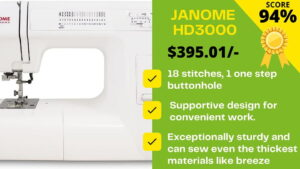 Read more about the article Janome HD3000 Reviews: Uncover THE BEAST