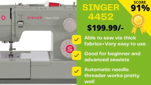 Read more about the article Singer 4452 reviews by EXPERTS: Really 155% POWERFUL?