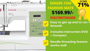 Read more about the article Singer 7256 Fashion Mate Sewing Machine Review