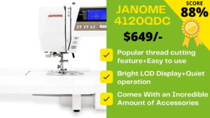 Read more about the article Janome 4120QDC Sewing Machine Review: THE PERFECTIONIST