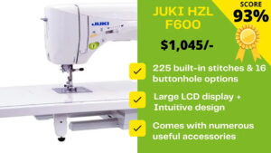 Read more about the article Juki HZL F600 Reviews From sewing Experts: WORTH BUYING?