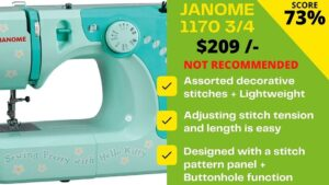 Read more about the article Janome 11706 3/4 scores just 5.2/10 – Shocking!