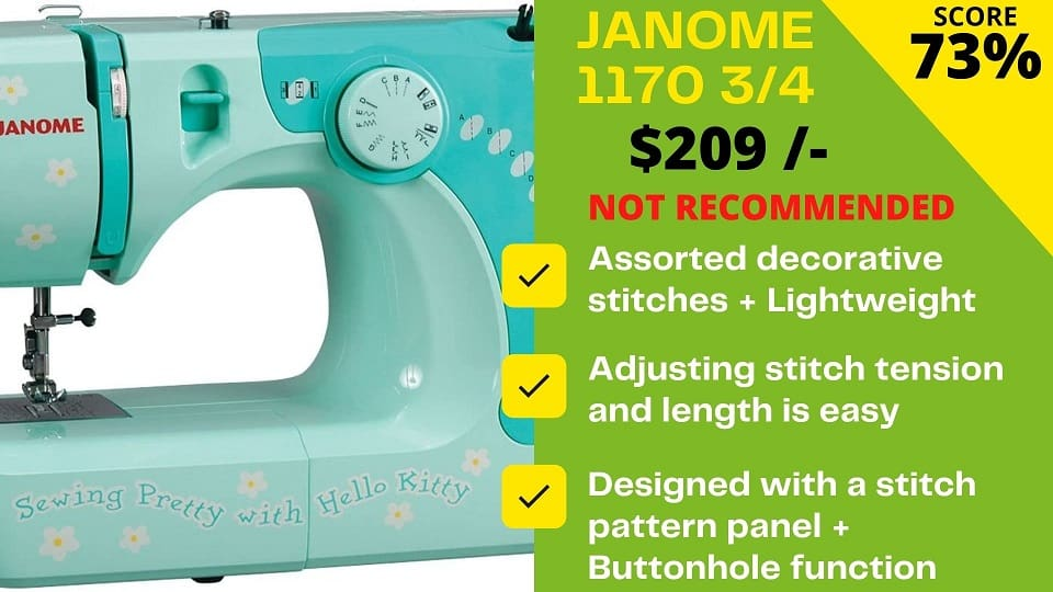 You are currently viewing Janome 11706 3/4 scores just 5.2/10 – Shocking!