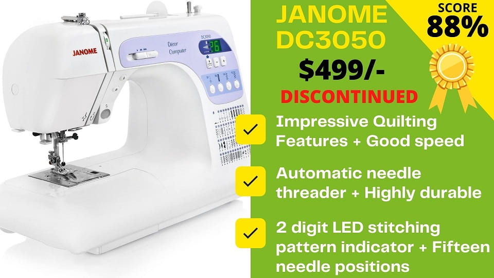 You are currently viewing Janome DC3050 Reviews 2021: DISCONTINUED