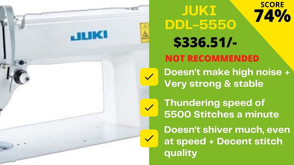 You are currently viewing Juki DDL 5550 Review: Don't buy it says the EXPERT