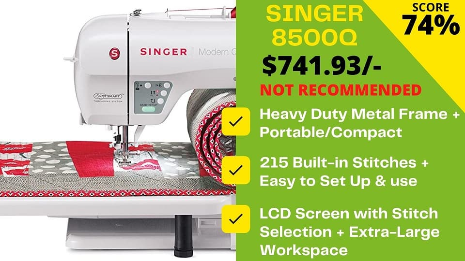 You are currently viewing Singer 8500q Review: Don't buy this machine!