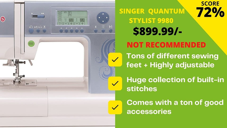 Read more about the article Honest Review of Singer 9980 Sewing Machine By Expert